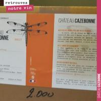 Les étiquettes de Cazebonne