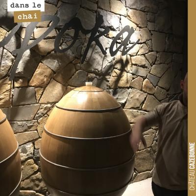 L'œuf en chêne, l'invention d'un tonnelier slovène, testé ici pour une grande cuvée (Opoka) de Ma...