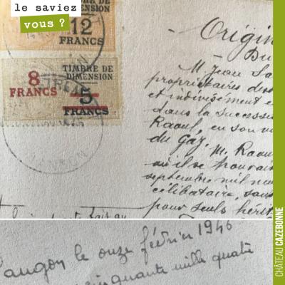 Les actes notariés étaient de véritables œuvres d'art, il y a encore 50 ans. Ici, un vieil acte s...