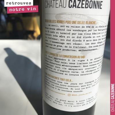 Raconter une histoire. Toutes les étiquettes de Cazebonne comporteront un texte explicatif, donna...