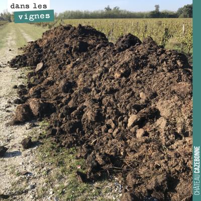 On va étendre cette année 200 tonnes de composts et fumiers sur nos vignes qui manquent encore de...