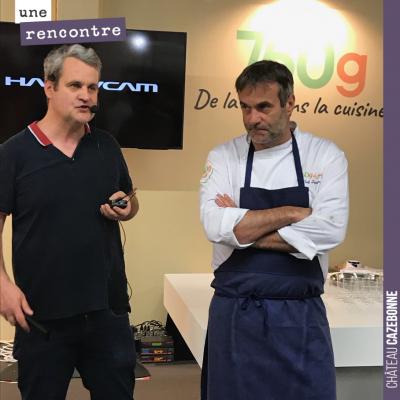 Conférence ce soir sur le stand 750g sur le salon Saveurs pour parler de biodynamie avec Chef Dam...