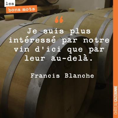 Il faut profiter de la vie avec du bon vin, vous êtes d'accord ?