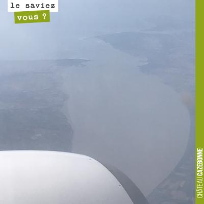 Elle est belle la Gironde. Photo prise depuis l'avion hier !