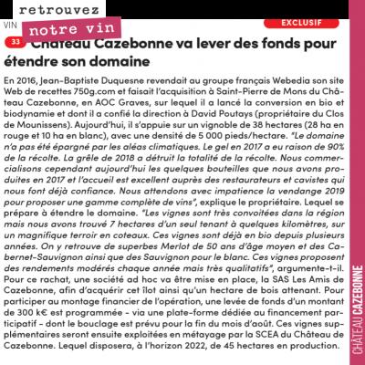 Aquitaine Presse nous fait l'honneur de parler de notre projet de rachat participatif de vignes a...