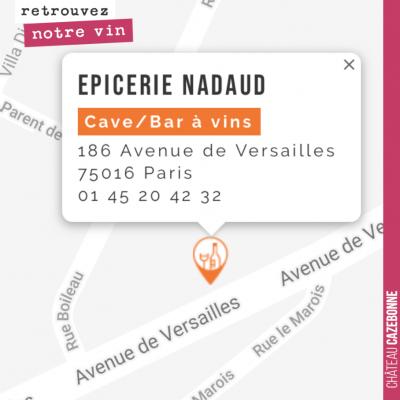 Retrouvez désormais notre blanc Parcellaires Peyron-Bouché aux Épiceries Nadaud dans le 16eme à P...