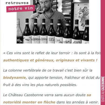 Quand Winefunding demande à notre œnologue, Nicolas Jamin, ce qu'il pense de nos vins ! Je ne sai...