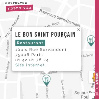 Retrouvez désormais Cazebonne au Bon Saint-Pourçain. Très fier qu'une nouvelle belle table parisi...