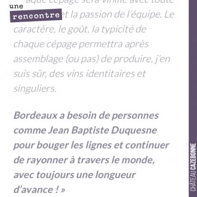 Très sympathique commentaire de Julien Viaud, œnologue consultant chez Michel Rolland, suite à sa...