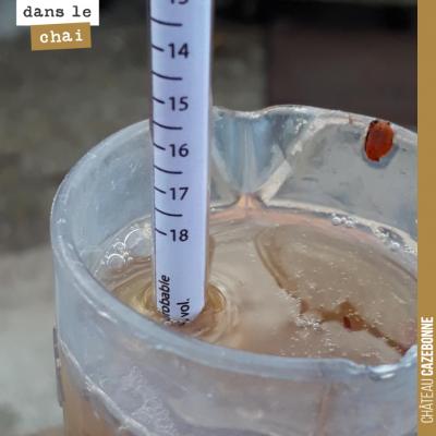Le liquoreux de David à Mounissens a tellement de sucre que le mustimetre n'a pas assez de gradua...