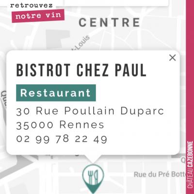 Vous pouvez désormais goûter nos vins dans cette très belle adresse à Rennes. On en est très fier.