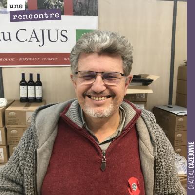 Très sympathique avec Pierre Veyron du Château Cajus à Bordeaux. Des vins bio de très belle factu...