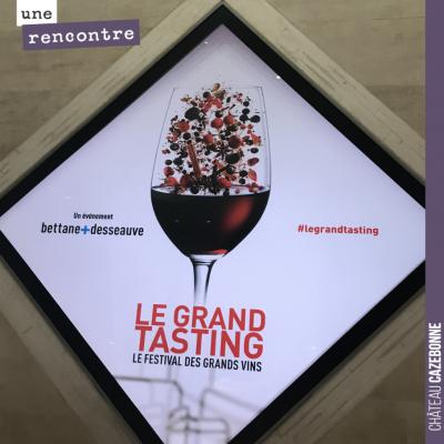 On se rend au Grand Tasting pour aller goûter un peu aperçu de la diversité du vignoble français ...
