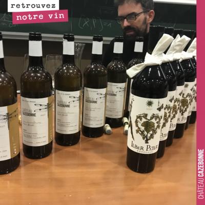 Nous sommes allé faire déguster les vins de Cazebonne aux étudiants de Polytechnique et de l'Enst...
