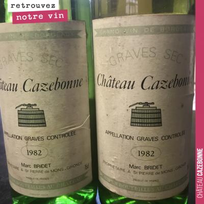 On a retrouvé ces vieilles bouteilles de Cazebonne. Curieux de voir comment cela va goûter !