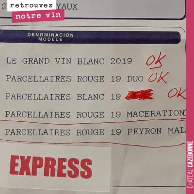 Réception des étiquettes pour nos grandes cuvées 2019. Mise en bouteille et étiquetage en fin de ...