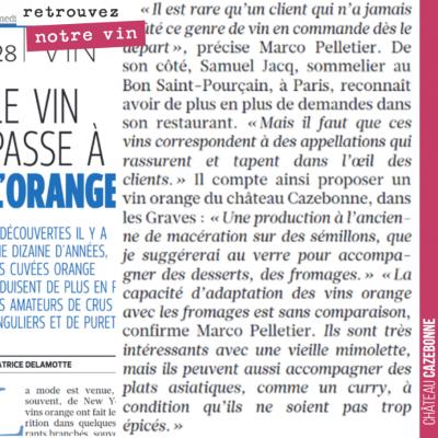 Notre vin de macération cité dans Le Figaro. On ne va pas bouder notre plaisir. Merci Samuel Jacq !