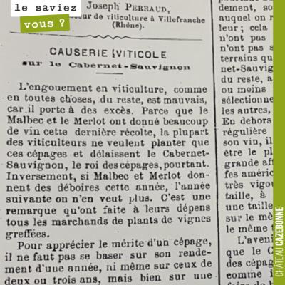 Michel Elie m'a fait parvenir un texte rédigé par son arrière grand-père Jean Elie, en 1897, en p...