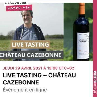 Rejoignez nous pour cette échange autour d'une dégustation des vins de Cazebonne. Je serai accomp...