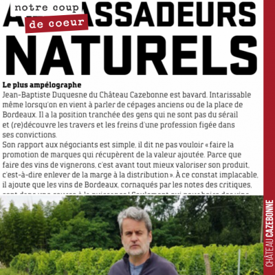 Sympathique article de Henry Clemens dans le magazine Junkpage sur ces vignerons de Graves qui in...